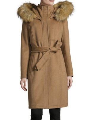 IVANKA TRUMP 女士羊毛修身长大衣,反季特价