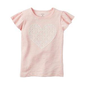 Flutter-Sleeve Heart Shirt