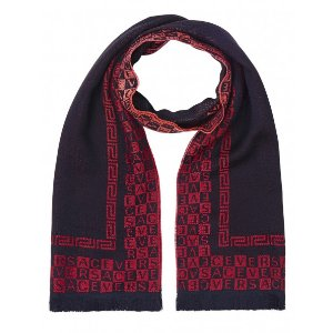 Versace Collection 100% Wool Scarf - Red