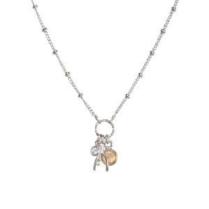 necklaces You Wish!, Wishbone And Pyrite Bezel Ulster Necklace, 16