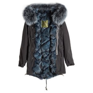 Cotton Parka with Fur-Trimmed Hood and Lining - Mr & Mrs Italy | WOMEN | US STYLEBOP.COM