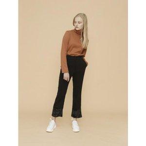 YUPPE velvet pants black