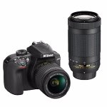 Nikon Refurbished D3400 DSLR Camera with 18-55mm & 70-300mm Lenses