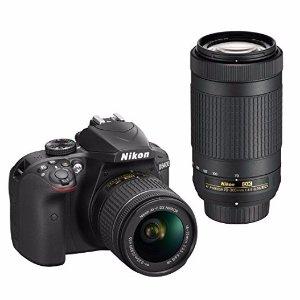$399免税包邮官翻 Nikon D3400单反  18-55mm + 70-300mm镜头套装
