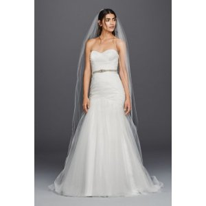 Strapless Sweetheart Mermaid Tulle Wedding Dress - Davids Bridal