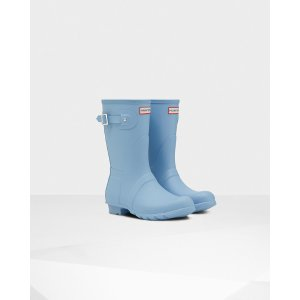 Womens Blue Short Rain Boots | Official US Hunter Boots Store
