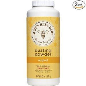$12.55 + Free ShippingBurt's Bees Baby 100% Natural Dusting Powder, 7.5 Ounces (Pack of 3) (Packaging May Vary)