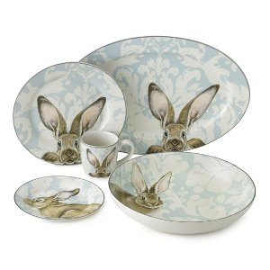 Damask Bunny Dinnerware Collection | Williams Sonoma