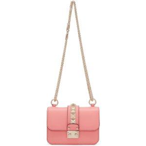 Valentino: Pink Mini Lock Bag