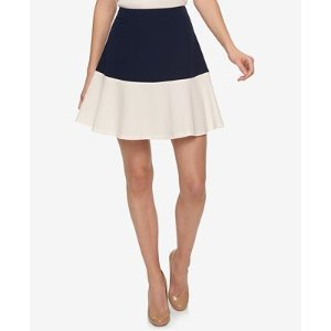 Tommy Hilfiger Colorblocked Fit & Flare Skirt - Skirts - Women - Macy's