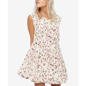 Free People Fake Love Printed Mini Dress