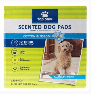 $7Top Paw Scented Dog Pads 150 count