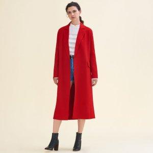 GEODE Long double-sided wool coat