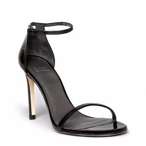 Nudistsong High Heel Patent Ankle Strap Sandals
