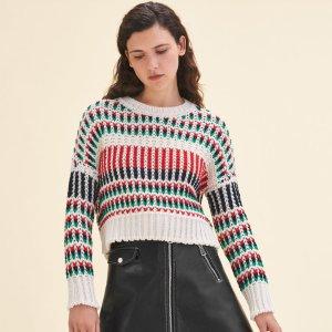 MASSIMO Decorative multi-coloured knit jumper