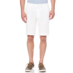 Drawstring Linen Shorts   Perry Ellis