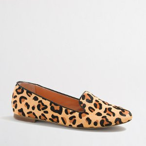 Cora leopard calf hair loafers : Loafers | J.Crew Factory