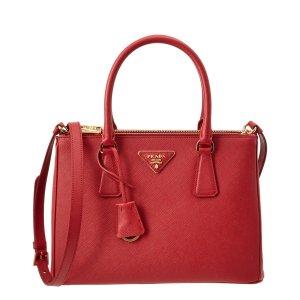 Prada Prada Galleria Saffiano Leather Double Handle Tote (429618001) | Bluefly.Com