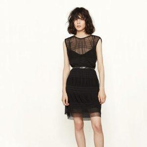 ROLANE Short dress with see-through detailing - Dresses - Maje.com