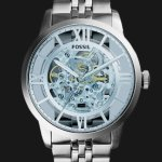 Fossil Men's ME3073 Analog Townsman Automatic Self Wind Silver Watch