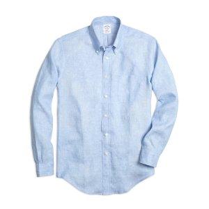 Men's Slim Fit Linen Sport Shirt   Brooks Brothers