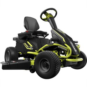 Ryobi 38 in. 100 Ah Battery Electric Riding Lawn Mower-RY48111 - The Home Depot