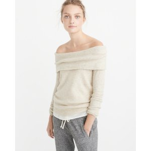 Womens Off-The-Shoulder Sweater