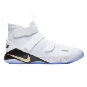 Nike LeBron Soldier 11 - Men's - Basketball - Shoes - James, LeBron - White/Metallic Gold/Black