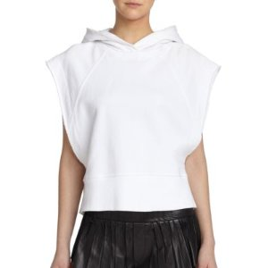Rag & Bone Roni Short-Sleeve Cotton Hoodie