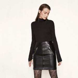 JUICE Short leather skirt - Skirts & Shorts - Maje.com