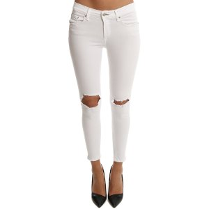 rag & bone/JEAN Capri with Holes | Blue&Cream