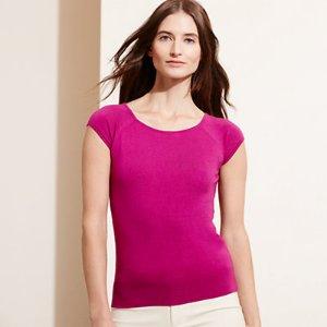 Silk-Cotton Sweater - Sweaters � Petite (sizes 2-14) - RalphLauren.com