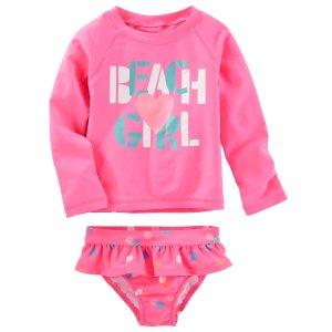 Kid Girl OshKosh Beach Girl Rashguard Set | OshKosh.com