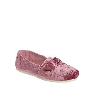 Bow Velvet Slip-On Flats