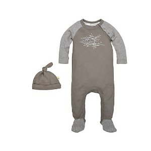 Hive in the Trees Organic Cotton Footed Coverall & Hat Set