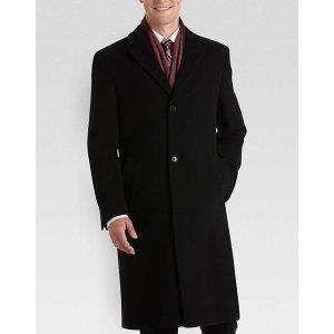 Calvin Klein Black Classic Fit Topcoat - Men's Topcoats   Men's Wearhouse