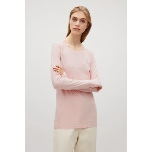 Slim-fit top with thumbhole - Rose Pink - Sale - COS US