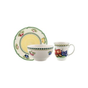 French Garden Fleurence Rice Bowl Set (12 PC) by Villeroy & Boch at Gilt