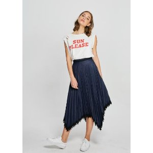 Highwaisted Pleated Skirt