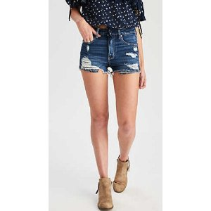 AEO DENIM X SUPER HI-RISE SHORTIE