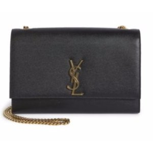 Saint Laurent Monogram Large Leather Chain Shoulder Bag
