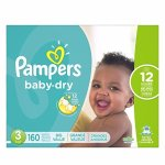 Pampers Baby Dry Diapers, Size 3, 160 Count