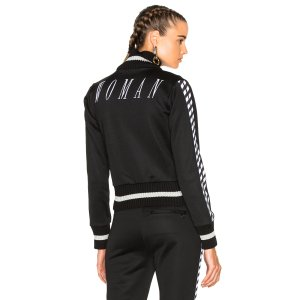 OFF-WHITE Track Jacket in Black & White