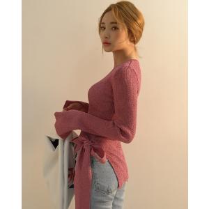 골지 트윙클리 리본 니트-T | 韩国女装NO.1网店 STYLENANDA 中文官网