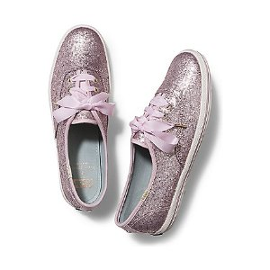 Women - KEDS X kate spade new york CHAMPION GLITTER. - Blush Pink Matte Glitter   Keds