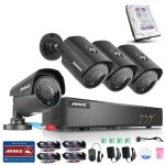 Annke 8-Channel 1.3Megapixels HD-TVI Wired Security System 1080N Video DVR with 1TB HDD Pre-installed and (4) 1080x960p Weatherproof Cameras with Metal Housing and 100ft Night Vision