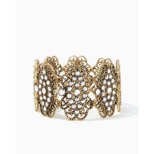 Crown Filigree Stretch Bracelet
