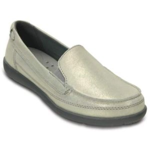 Women's Walu Shimmer Leather Loafer   Women's Loafers   Crocs Official Site
