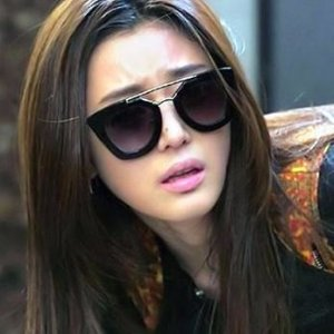 $159(Orig $390)PRADA Black Catwalk Cinema 49 Mm Sunglasses