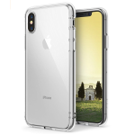 Apple iPhone X Case Ringke [FUSION] Crystal Clear Transparent PC Back TPU Bumper [Drop Protection] Scratch Resistant Natural Shape Protective Cover for Apple iPhone X - Clear